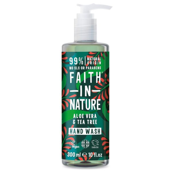 faith in nature aloe vera tea tree hand wash 300 ml