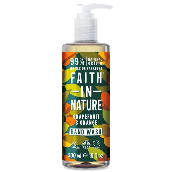 faith in nature grapefruit orange hand wash 300 ml