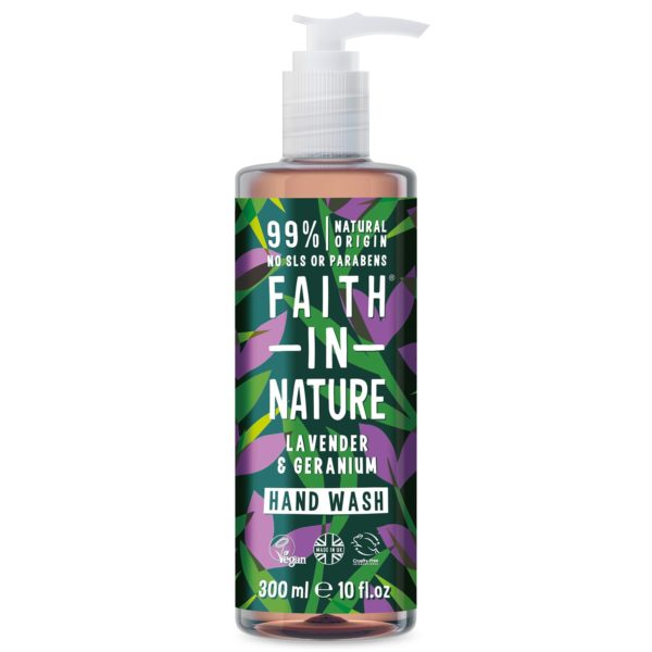 faith in nature lavender geranium hand wash 300 ml