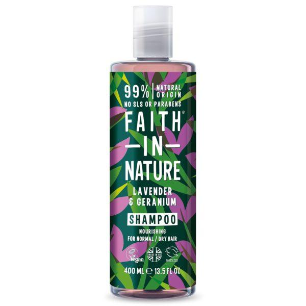 faith in nature lavender geranium shampoo 400 ml