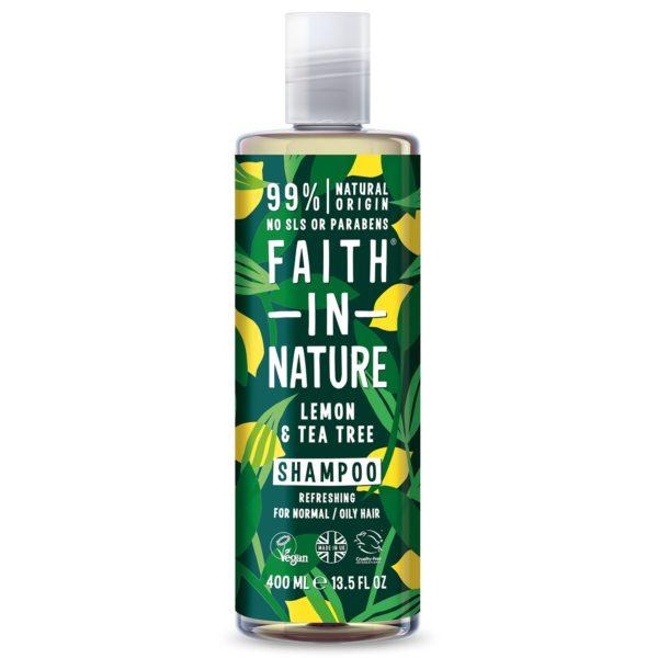 faith in nature lemon tea tree shampoo 400 ml