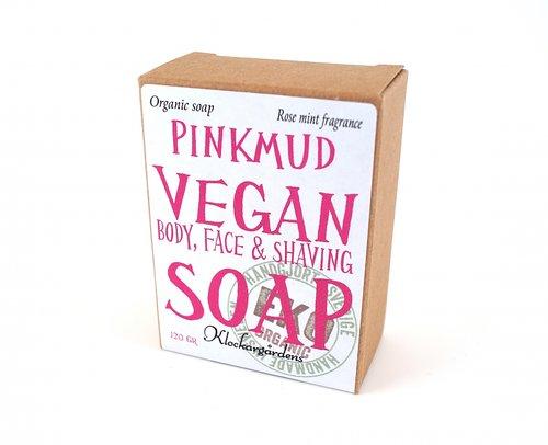 pink mud vegan soap